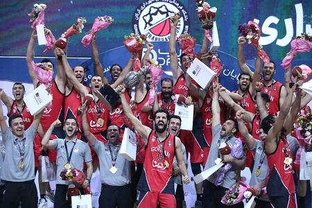 قهرمانی تیم بسکتبال شهرداری گرگان