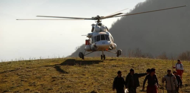 بالگردهای اطفای حریق وزارت دفاع به گلستان اعزام شد
